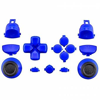 Full replacement button set for sony ps4 pro controllers jdm-040 mod kit including thumbsticks - blue | zedlabz