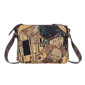 غوستاف klimt - الذهب قبلة عبر حقيبة الجسم من قبل نسيج signare / xb02-art-gk-gdks