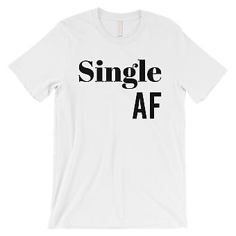 Single AF Mens White T-Shirt Unique Valentine-apos;s Day Tee Shirt