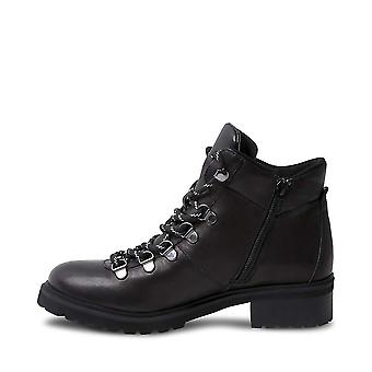 Steve Madden Womens Lora skinn lukket tå ankel Combat Boots