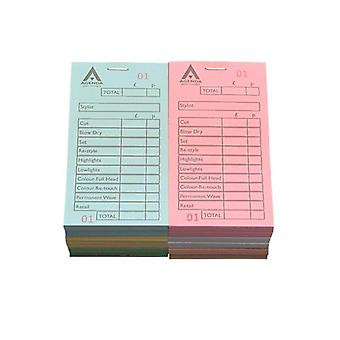 Agenda check pads - numbered assorted 12 x 100 leaf pads