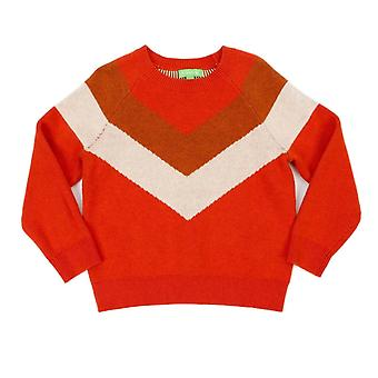 Lily Balou Girls Sweater Livia Tangerine Red
