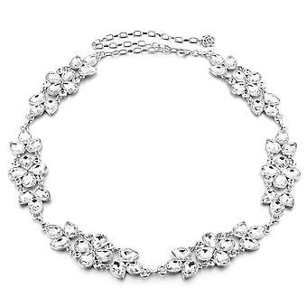 43 Inch Donne Argento Waist Chain Cintura Rhinestone Diamante