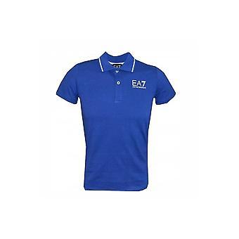 EA7 Boys Blue Surf Polo Shirt