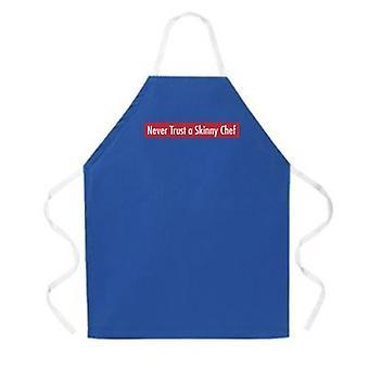 Skinny Chef Schürze Blau