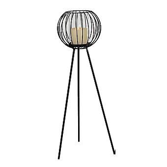 Floor lantern black Forging 64 cm