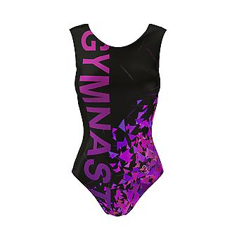 GYMNAST Kids Gymnastic Leotards For Girls + Free Velour Hipster Shorts