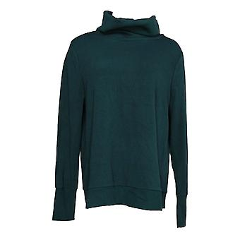 Anybody Women's Top Plush Terry Cowl-Neck Green A345169
