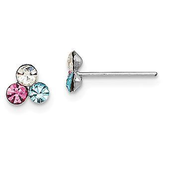 925 sterling sølv madi k rh belagt flerfarget krystall innlegg øredobber smykker gaver til kvinner