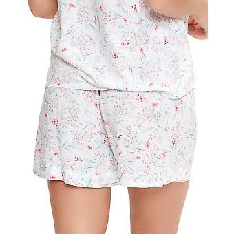 LingaDore 5025SH-17 Women's Eularia White Floral Print Pyjama Short