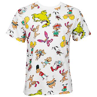Nicktoons All Over White T-Shirt