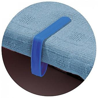Pakket van 4 Tafeldoek Clips Blauw sterk
