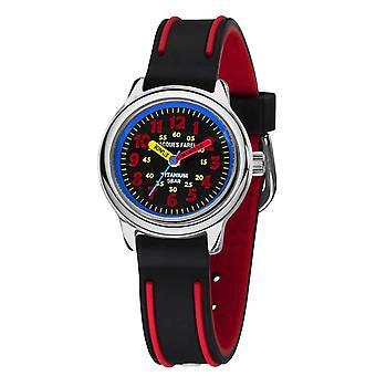 JACQUES FAREL Kids Wristwatch Analog Quartz Boys Titanium Silicone KTI 7777