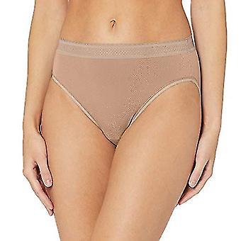 Warner's Women's Breathe Freely Hi-Cut Panty, Toasted Almond, XL