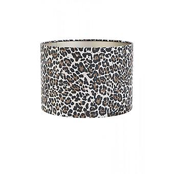 Light & Living Cylinder Shade 30x30x21cm Leopard Brown