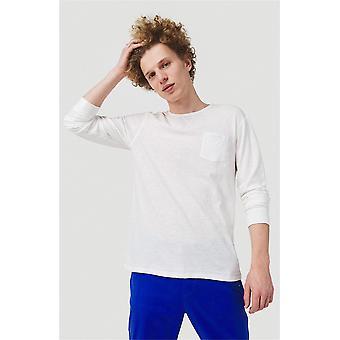 O'Neill Men's camiseta de manga larga - Essentials blanco