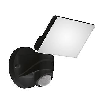 Eglo Pagino - LED vonkajšie povodňové nástenné svetlo s PIR snímačom pohybu Čierny IP44 - EG98178