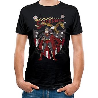 Superman Adults Unisex Adults Shield And Eagle Design T-Shirt