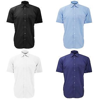 Kustom Kit Mens courts Business chemise à manches longues