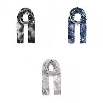 Intrige dames/dames metallic ster DIP Dye sjaal