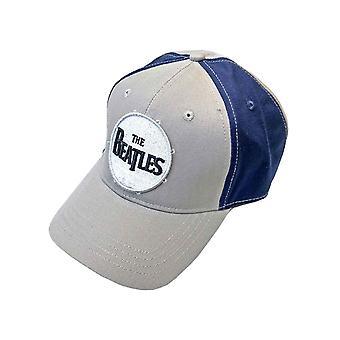The Beatles Baseball Cap Drum Band Logo Official 2 Tone Grey Blue Strapback