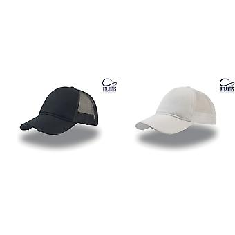 Atlantis Rapper Destroyed 5 Panel Weathered Trucker Cap (Pack of 2)
