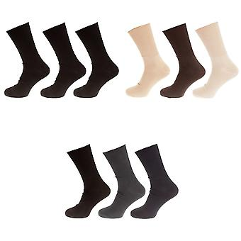Universal Textiles Mens Bamboo Diabetic Wellness Socks (Pack Of 3)