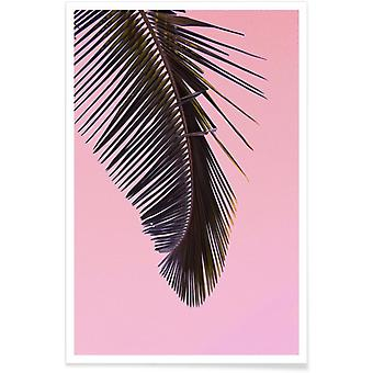 JUNIQE Print - Tropicana Pink by @BineArnold - Leaves & Plants Poster in Pink & Grey