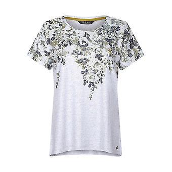 VIZ-A-VIZ Ash Floral Printed Top