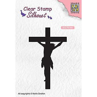Nellie's Choice Clearstamp - Silhouette cross SIL058 43x70mm (02-20)