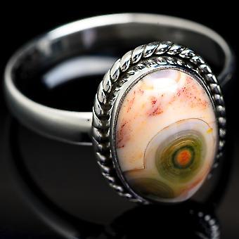 Ocean Jasper Ring Size 11.5 (925 Sterling Silver)  - Handmade Boho Vintage Jewelry RING3724