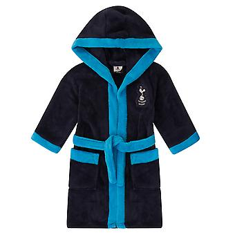 Tottenham Hotspur Boys Dressing Gown Robe Hooded Fleece OFFICIAL Football Gift