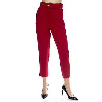 Crinkled bælte mager bukser