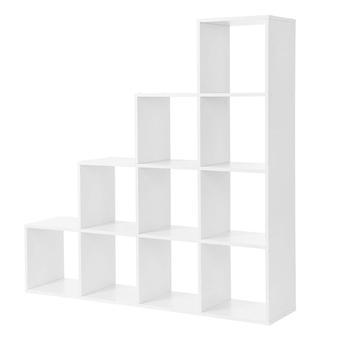 Estante em forma de escada-divisor de quarto