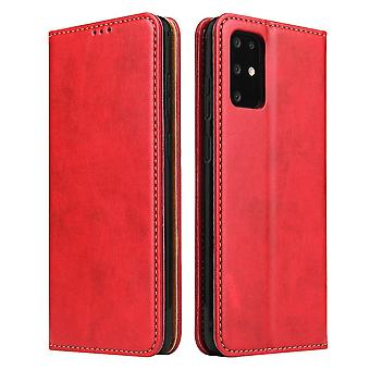 Pour Samsung Galaxy S20 Case Leather Flip Wallet Folio Cover Red