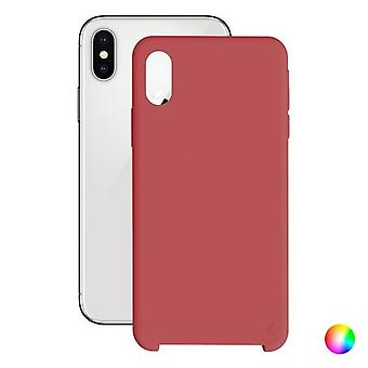 Matkapuhelinkansi Iphone X/xs KSIX Pehmeä/Punainen