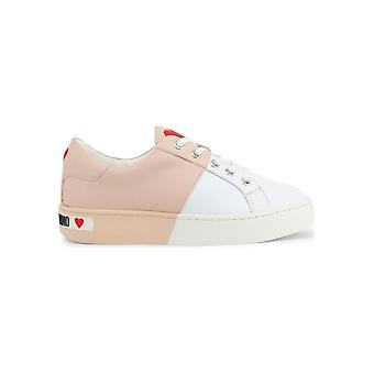 Love Moschino - Sapatos - Tênis - JA15013G1AIF-110B - Mulheres - rosa,branco - EU 37