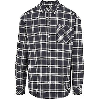 Urban Classics Heren Long Sleeve Shirt Oversized Check