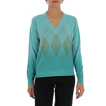 Ballantyne Q1p32914cm892703 Women's Lichtblauwe katoenen trui