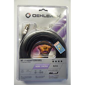 Oehlbach NF 1 Y- Subwoofer Audio Cable black 8 meters 1 piece