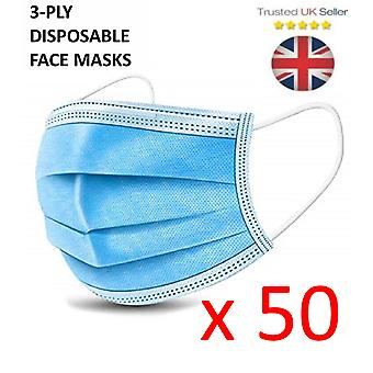 50X 3 Ply Face Mask