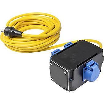 as - Schwabe 61540 Akım Kablo uzantısı 16 A Sarı 10.00 m
