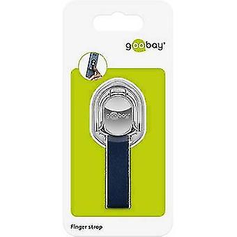 Goobay Fingerstrap (silber/blau) Handyständer Silber-blau