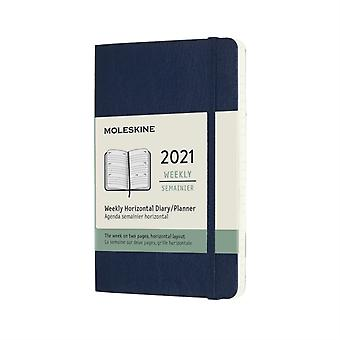 2021 12M Wkly Horiz Pock Sapph Blue Soft
