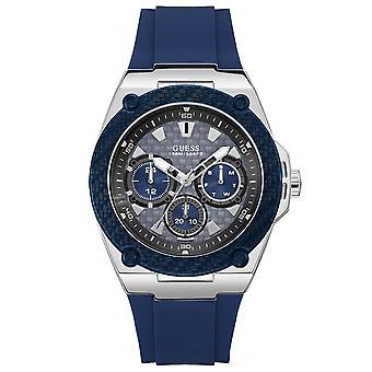 כנראה W1049G1 מורשת כחול חיוג כחול גברים סיליקון ' s שעון