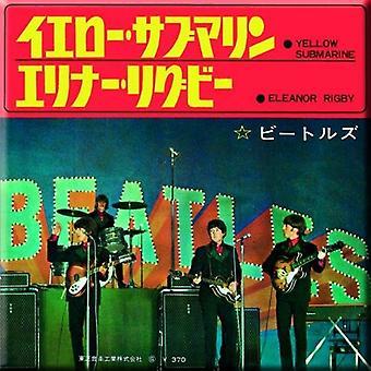 Beatles Jääkaappi magneetti keltainen sukellusvene Eleanor Rigby uusi 76 x 76 mm