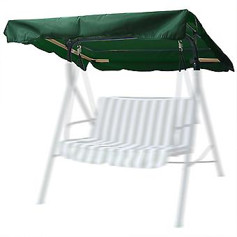 "Yescom 76 3/8"" x 44 1/8"" Outdoor Swing Cover Replacement UV30+ 180gsm Canopy Top for Porch Patio Garden Pool Seat"