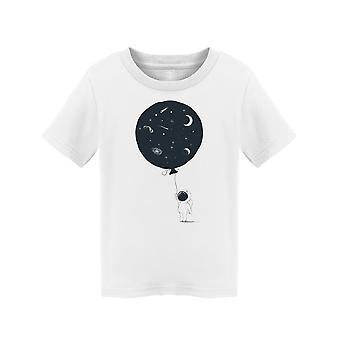 Astronaut Balloon With Universe Tee Toddler's -Image by Shutterstock