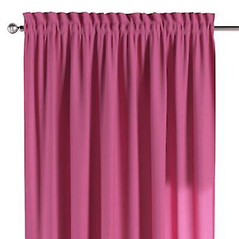Vorhang mit Tunnel und Köpfchen, rosa, 130 × 260 cm, Jupiter, 127-24