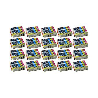 RudyTwos 20x korvaaminen Epson PolarBear Aseta muste yksikkö musta Syaaninen magenta keltainen & kuva musta yhteensopiva Expression Premium XP-510, XP-520, XP-600, XP-605, XP-610, XP-615, XP-620, XP-625, XP-